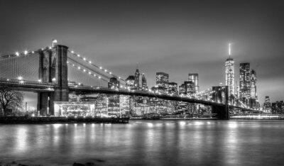 Fotomural Puente de Brooklyn al atardecer, Nueva York.