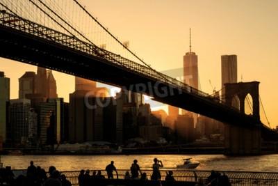 Fotomural Puente de Brooklyn al atardecer, Nueva York