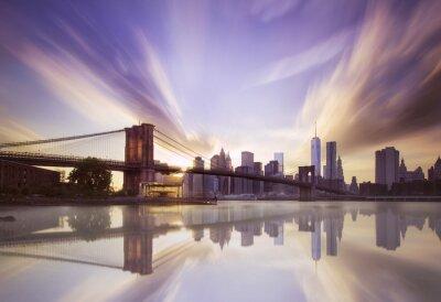 Fotomural Puente de Brooklyn atardecer