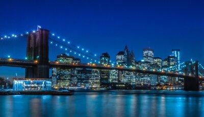 Fotomural Puente de Brooklyn de Nueva York Skyline