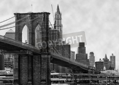 Fotomural Puente de Brooklyn de Nueva York y el East River