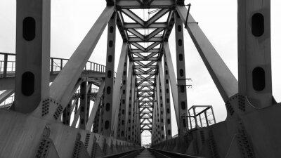 Fotomural Puente de ferrocarril de acero