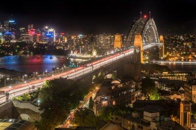 Fotomural Puente del puerto de Sydney en la noche