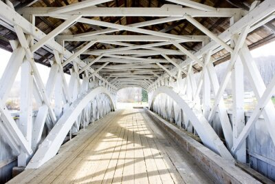Fotomural Puente Groveton cubierto (1852), New Hampshire, EE.UU.