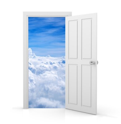 Fotomural puerta abierta