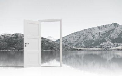 Fotomural Puerta abierta a algún lugar