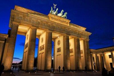 Fotomural Puerta de Brandenburgo en la noche la luz