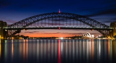 Fotomural Puerto de Sydney en el amanecer