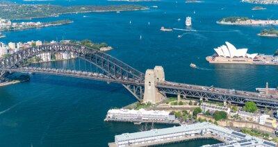 Fotomural Puerto de Sydney. Impresionante vista aérea en un día soleado