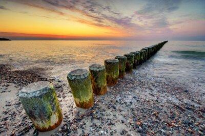 Fotomural Puesta de sol en el mar