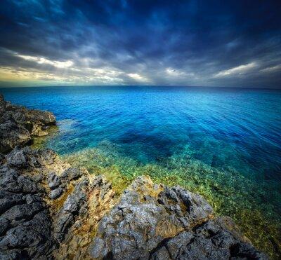 Fotomural Puesta del sol y mar