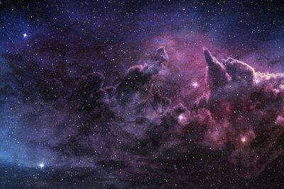 Fotomural Púrpura, nebulosa, cósmico, polvo, estrella, campo