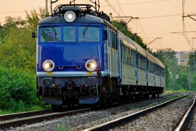 Fotomural railway transport