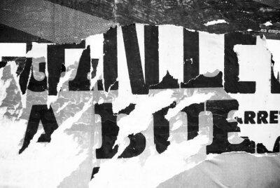Fotomural Random fondo collage papel tipografía textura en la pared