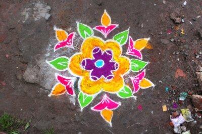 Fotomural Rangoli / Munnar (Kerala / Inde)