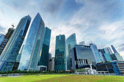 Fotomural Rascacielos en el distrito financiero de Singapur