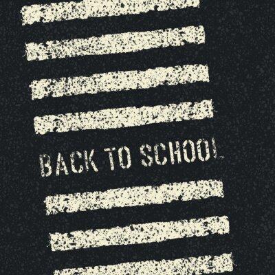 Fotomural Regreso a la escuela. Concepto de la seguridad vial. Vector.