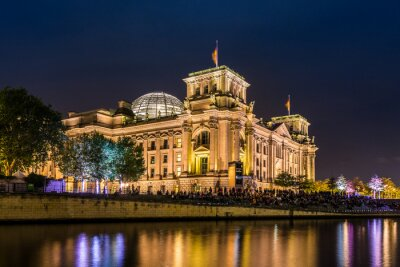 Fotomural Reichstag en Berlín am Abend