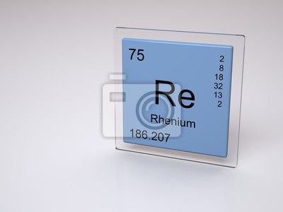 Renio smbolo re elemento qumico de la tabla peridica fotomural renio smbolo re elemento qumico de la tabla peridica urtaz Images
