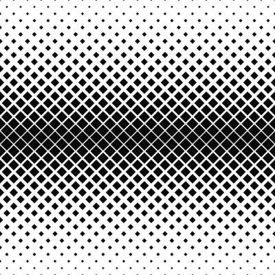 Fotomural Repetición de patrón cuadrado monocromo