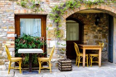 Fotomural Restaurante de la acera