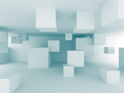 Fotomural Resumen Antecedentes caóticos Cubos Diseño Construcción