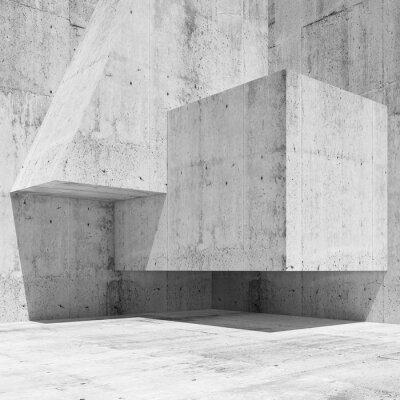 Fotomural Resumen blanco hormigón interior fragmento 3 d