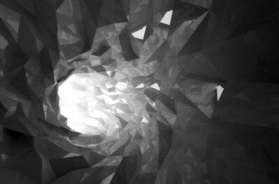 Fotomural Resumen brillo negro cristal 3d túnel digital