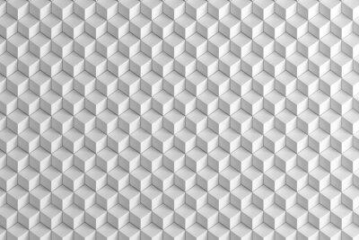 Fotomural Resumen cajas blancas textura de la escalera 3d