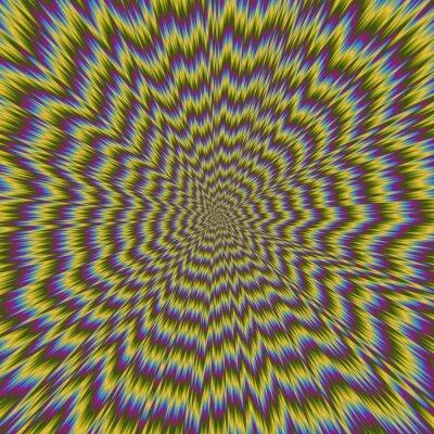Fotomural Resumen colorido ilustración de hipnótico brillante patrón