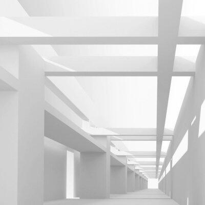 Fotomural Resumen de antecedentes con la arquitectura vista en perspectiva 3D de emp