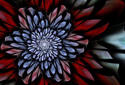 Fotomural Resumen de flores fractales