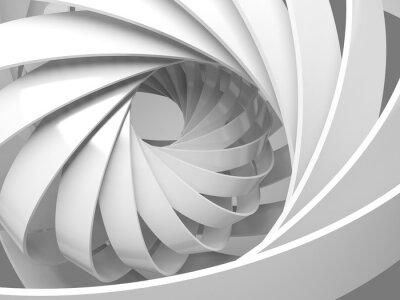 Fotomural Resumen de fondo digital con 3d estructura en espiral