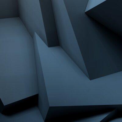 Fotomural Resumen de fondo geométrico con cubos superpuestos