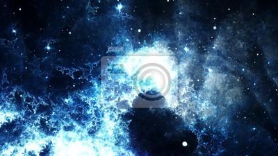 Fotomural Resumen digital de una galaxia brillante y colorido de la nebulosa y de las estrellas