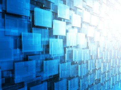 Fotomural Resumen HighTechnology brillante cuadrados de fondo