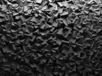 Fotomural Resumen oscuro caóticos Cube forma el fondo.