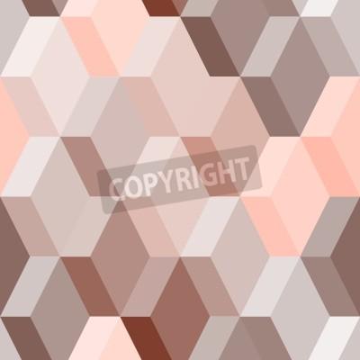 Fotomural Resumen patrón geométrico sin fisuras en rosa y marrón, vector