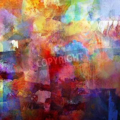 Fotomural resumen pintado de fondo - creado por la combinación de diferentes capas de pintura