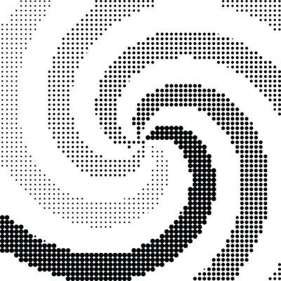 Fotomural Resumen remolino medio punto vector