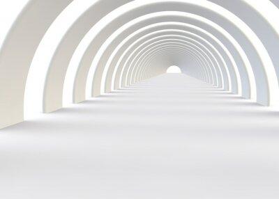 Fotomural Resumen túnel futurista en un estilo contemporáneo