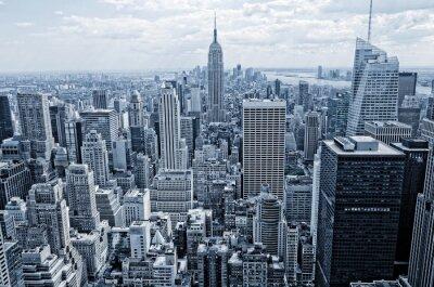 Fotomural Resumen vista de la altura a Manhattan