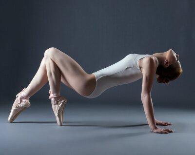 Fotomural Retrato de bailarina grácil emocional en pointes