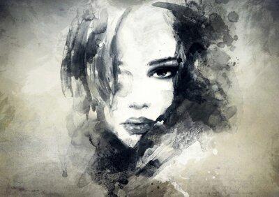 Fotomural Retrato de la mujer abstracta