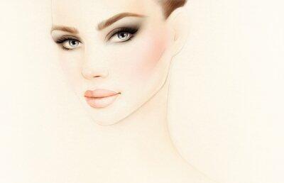 Fotomural Retrato de mujer. Ilustración de la moda
