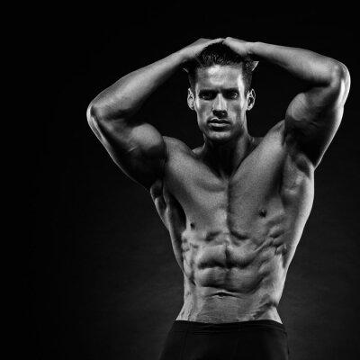 Fotomural Retrato de un apuesto músculo culturista posando