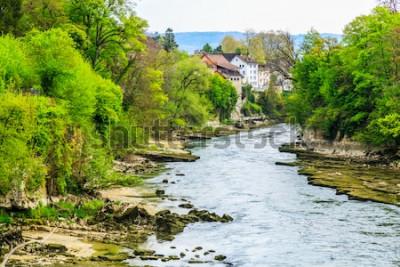 Fotomural Río Aare en la ciudad de Brugg en Suiza