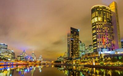 Fotomural Río Yarra y horizonte de Melbourne.