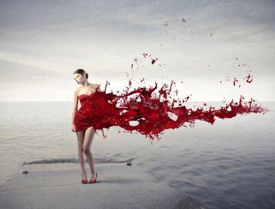 Fotomural Rojo de la belleza