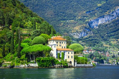 Fotomural Romántica Lago di Como, villa del Balbianello
